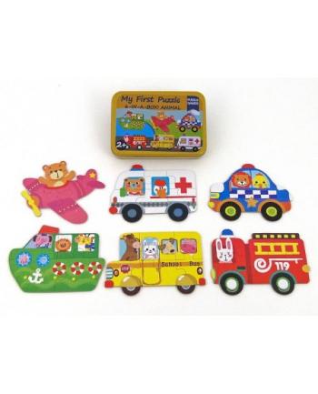 adar Układanka puzzle pojazdy metal box 474901