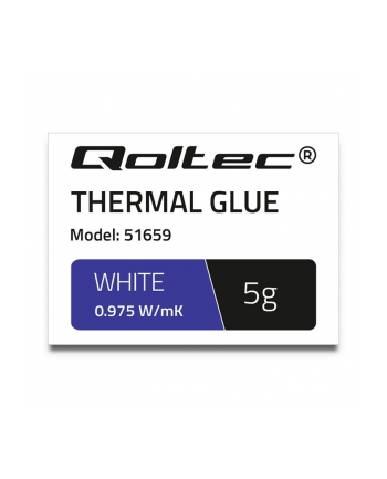 qoltec Klej termoprzewodzący | 0,975W/m-K | 5g | biały