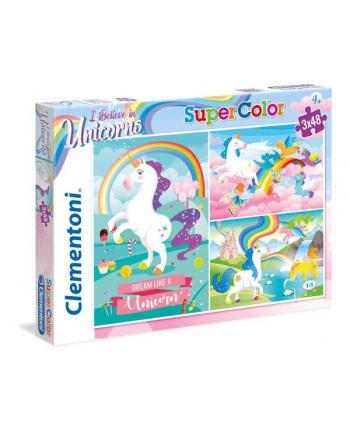 Clementoni Puzzle 3x48el I Believe in Unicorns 25231