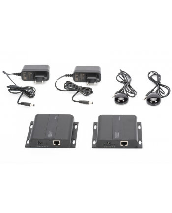 digitus Przedłużacz/Extender HDMI do 120m po skrętce Cat.5e/6 UTP lub IP, 4K 30Hz UHD, z audio (zestaw)