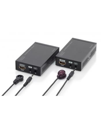 digitus Przedłużacz/Extender HDMI HDBaseT do 70m po Cat.5e, 4K   30Hz UHD, HDCP 2.2, IR, z audio (zestaw)