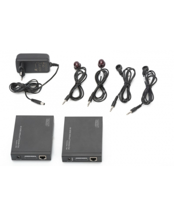 digitus Przedłużacz/Extender HDMI HDBaseT do 70m po Cat.6/7 4K 60Hz UHD HDCP 2.2, IR, RS232, audio (zestaw)