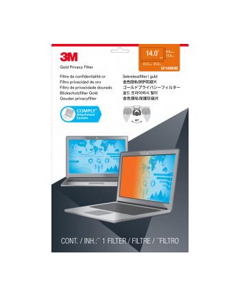 """3M GPF14.0W PRIVACY FILTER GOL GPF14.0W9 Blickschutzfilter Gold für Laptop 35,6 cm Weit (entspricht 14.0"""" W) 16:9"""