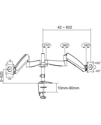 TV SET ACC DESK MOUNT SILVER/10-24'' FPMA-D950D NEWSTAR
