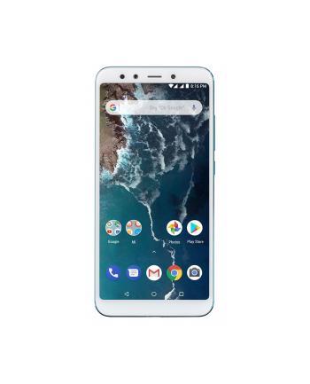 XIAOMI | Mi A2 | 64 GB | Blue | 3G | LTE | OS Android 8.1 | Screen 5.99'' | 1080 x 2160 | IPS-LCD | Dual SIM | 1xUSB type C | 2xNano-SIM card tray | Camera 20MP+12MP | 20MP | Fingerprint reader | Battery 3010 mAh | MZB6471EU