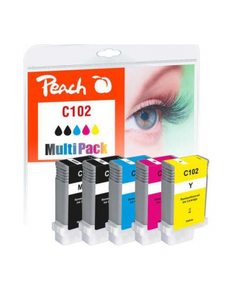 Tusz PEACH PI100-359 Canon PFI-102 MultiPack | bk, pbk, c, m, y