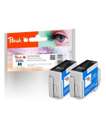 Tusz PEACH Epson No. 34XL, bk, Twin-Pack, PI200-626 2 Tusz cartridges (UK=55)