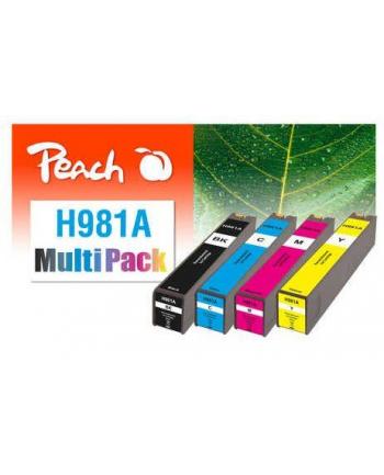 Tusz PEACH PI300-776 HP No 981A | bk, c, m, y