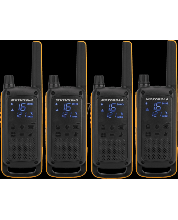Motorola T82 Extreme Quad Pack  Krótkofalówka, (Walkie-Talkie), 10 km, Czarny