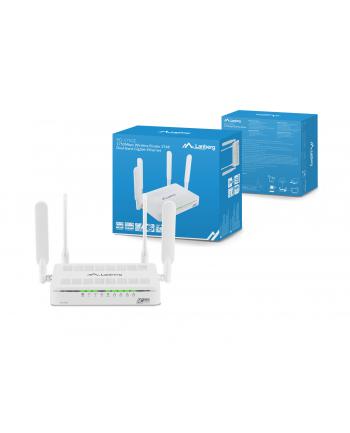 Lanberg Router DSL AC1750 4xLAN 1GB 3T4R MIMO anteny 2.4 i 5GHz; obsługa IPTV
