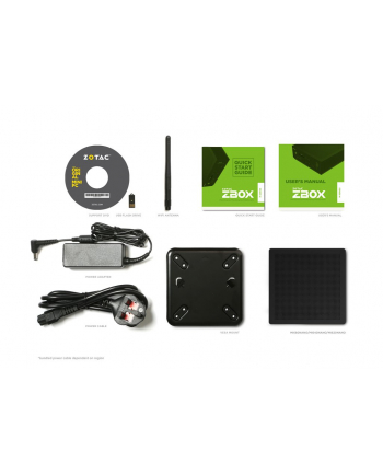 ZOTAC ZBOX MI620NANO, i3-8130U , 2xDDR4 SODIMM, DP/HDMI, EU+UK PLUG