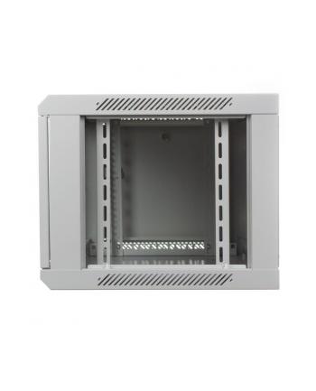 DIGITUS Szafa wisząca 19'' 6U 368/600/450mm, drzwi szklane, szara, niezmontowana