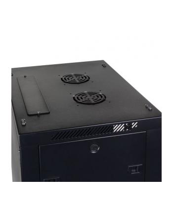DIGITUS Szafa wisząca 19'' 12U 635/600/450mm, drzwi szklane, czarna niezmontowana