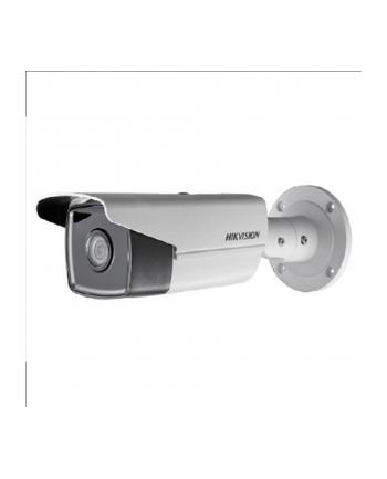 Hikvision IP kamera D/N DS-2CD2T43G0-I8 F4, Bullet; Hikvision, EasyIP 2.0plus, H.265+/H.264+; 4MPix, 4mm(~78°), EXIR IR pašvietimas iki 80m, 120dB WDR, SD slot. IP67, PoE