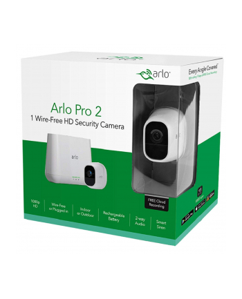 Netgear Arlo Pro 2 1 Wire-free HD Camera security System Cube, 2 MP, IP65, H.264