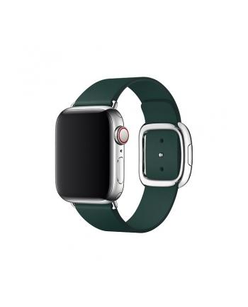 apple Pasek w kolorze leśnej zieleni z klamrą nowoczesną do koperty 40 mm - rozmiar L