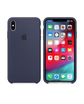 apple Etui silikonowe iPhone XS Max - nocny błękit