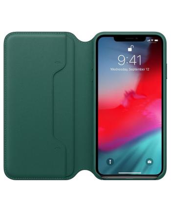 apple Skórzane etui folio iPhone XS Max - leśna zieleń