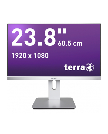 Monitor TERRA LED 2462W PV srebrny DP/HDMI GREENLINE PLUS