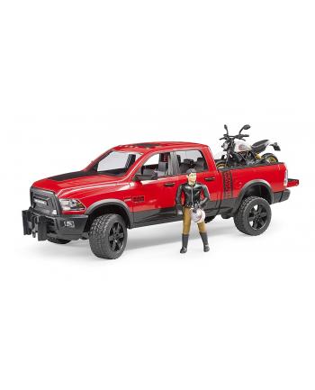 Dodge RAM 2500 Power Wagon z przyczepą i motocyklem Ducati 02502 BRUDER