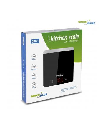 greenblue Waga Kuchenna Cyfrowa LED Czarna GB171