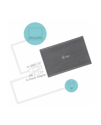 i-tec MySafe USB-C 3.1 Gen. 2, zewnętrzna obudowa na dysk HDD/SSD 2,5' 9.5mm SATA I/II/III