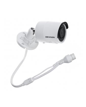 Hikvision kamera DS-2CD2043G0-I(2.8mm) w obudowie tulejowej. Rozdzielczość 4 MP, przetwornik: 1/3?, zasięg IR EXIR do 30m, obiektyw: 2.8mm/F1.6, kąt poziomy: 98°, wbudowany sklot na kartę microSD do 128GB, zasilanie 12VDC/PoE