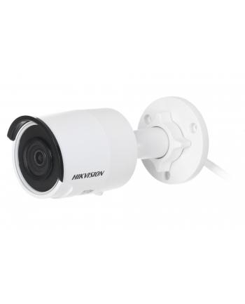 Hikvision kamera DS-2CD2043G0-I(4mm) w obudowie tulejowej. Rozdzielczość 4 MP, przetwornik: 1/3?, zasięg IR EXIR do 30m, obiektyw: 4mm/F1.6, kąt poziomy: 78°, wbudowany sklot na kartę microSD do 128GB, zasilanie 12VDC/PoE