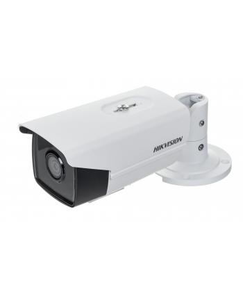 Hikvision kamera DS-2CD2T43G0-I5(4mm) w obudowie tulejowej. Rozdzielczość 4 MP, przetwornik: 1/3?, zasięg IR EXIR do 50m, obiektyw: 4mm/F1.6, kąt poziomy: 78°, wbudowany sklot na kartę microSD do 128GB, zasilanie 12VDC/PoE