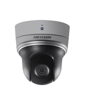 Hikvision kamera mini PTZ DS-2DE2204IW-DE3. Rozdzielczość 2MP, przetwornik: 1/2.8?, zasięg IR do 30m, zoom optyczny 4x (2.8-12mm), zoom cyfrowy 16x, kąt widzenia od 100° (zoom blisko) do 25° (zoom daleki), zasilanie 12VDC PoE