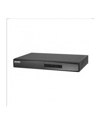 Hikvision rejestrator NVR DS-7608NI-K1(B). 8 kanałów IP, nagrywanie w rozdzielczości do 8MP, 2xUSB 2.0, 1 interfejs SATA (max. 6TB), 1 port Ethernet RJ45, wej.-wyj. audio 1-1, zasilanie 12VDC