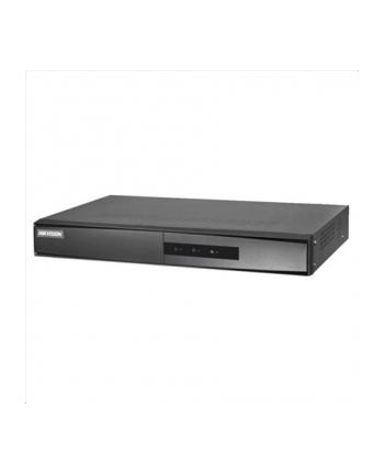 Hikvision rejestrator NVR DS-7616NI-K1(B). 16 kanaów IP, nagrywanie w rozdzielczości do 8MP, 2xUSB 2.0, 1 interfejs SATA (max. 6TB), 1 port Ethernet RJ45, wej.-wyj. audio 1-1, zasilanie 12VDC