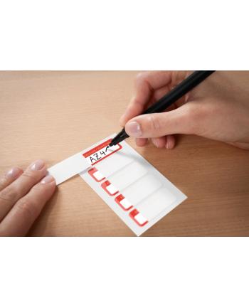 avery zweckform Tabliczki znamionowe - laminowane, 50 x 20mm, do opisu ręcznego, 50 sztuk, biało-czerwone