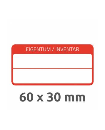 avery zweckform Tabliczki znamionowe - laminowane, 60 x 30mm, do opisu ręcznego, 40 sztuk, biało-czerwone