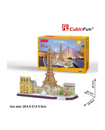 dante Puzzle 3D City Line Paris MC254H