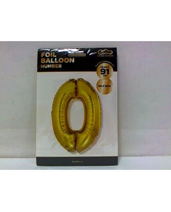 godan Balon foliowy Cyfra 0, złota, 85cm, FG-C85Z0     .