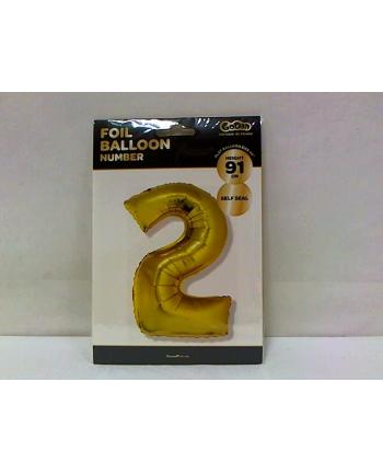 godan Balon foliowy Cyfra 2, złota, 85cm, FG-C85Z2     .