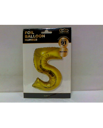godan Balon foliowy Cyfra 5, złota, 85cm, FG-C85Z5     .