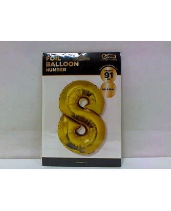 godan Balon foliowy Cyfra 8, złota, 85cm, FG-C85Z8     .