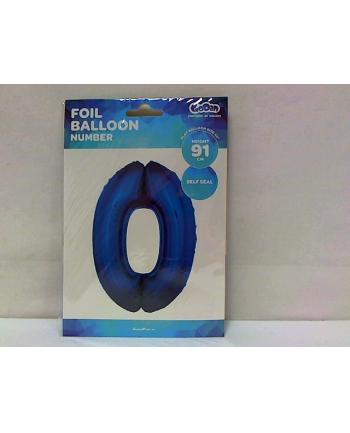 godan Balon foliowy Cyfra 0, niebieska 85cm, FG-C85N0  .