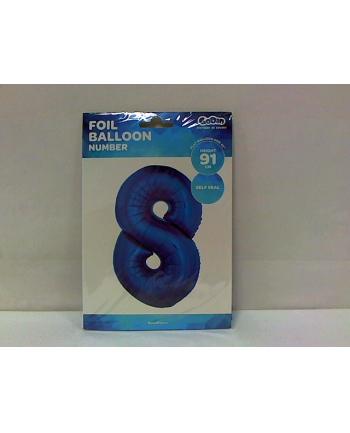 godan Balon foliowy Cyfra 8, niebieska 85cm, FG-C85N8  .