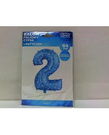 godan Balon foliowy ''Cyfra 2'' nieb+gwiazdy 26'' HS-C26N2.