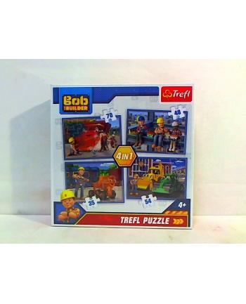 trefl Puzzle 4w1 PRACOWITY DZIEŃ BOB BUDOWNICZY 34270