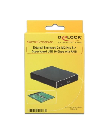 DeLOCK External housing 2x M.2 Key B - 2 x M.2 Key B > SuperSpeed USB 10 Gbps