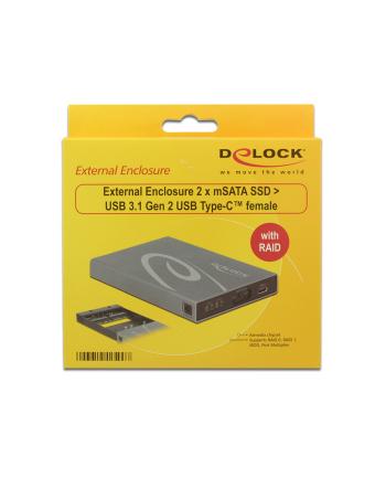 DeLOCK 2x mSATA SSD> 3.1 Gen 2 Type C
