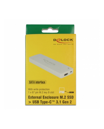 DeLOCK External housing M.2 Key B 42/60/80 mm SSD> USB Type-C 3.1 Gen 2 Socket, drive housing