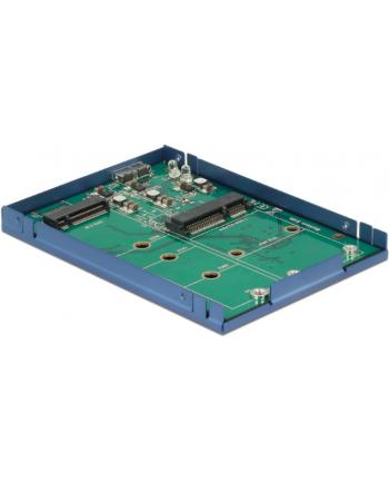 DeLOCK 2.5 ''Converter USB 3.1 Micro-B female> M.2 + mSATA, Drive Enclosure