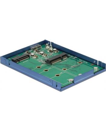 DeLOCK USB3.1 Micro-B blue>M.2+ mSATA 2,5 - converter inkl. 9,5mm casing