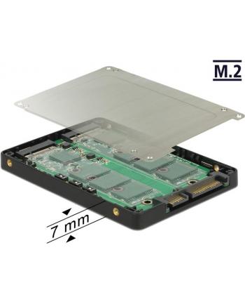 DeLOCK 2.5 converter SATA 22Pin>2x - with RAID