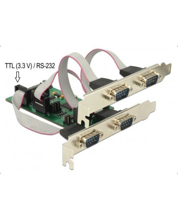 DeLOCK PCIe>3x Serial RS-232+1xTTL 3,3V